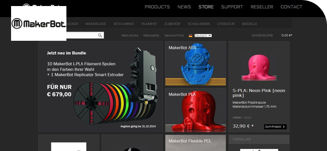 Shopware Onlineshop Makerbot